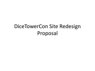 DiceTowerCon Site Redesign Proposal