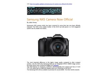 Samsung NX5 Camera Now Official