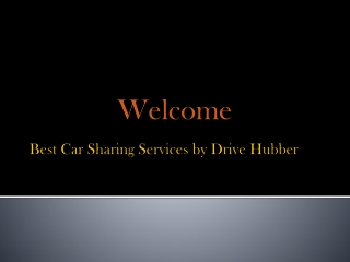 Enjoy excellent outdoor trip with car sharing services