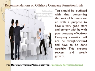 Recommendations on Offshore Company formation Irish