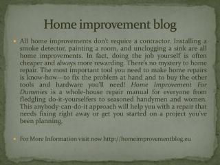 Home improvement blog