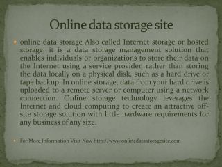 Online data storage site