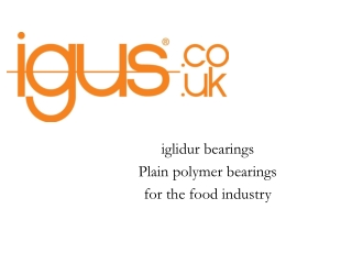 Polymer bearings for the food industry
