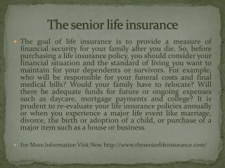 The senior life insurance