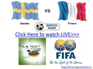 sweden vs france live hd!! third place fifa wwc 2011