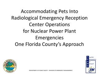 Accommodating Pets Into Radiological Emergency Reception Center ...