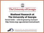 UGA RENEWABLE ENERGY PROGRAM