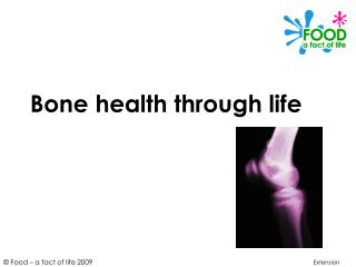 Bone health through life