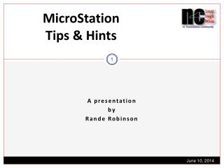 MicroStation  Tips & Hints