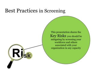 Background Check | Best Practices: Risks that can be mitigat