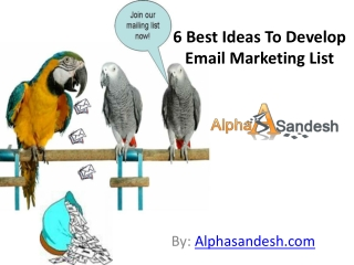 6 Best Ideas To Develop Email Marketing List