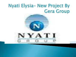 Nyati Elysia Pune - Luxury Apartments In Kharadi Pne