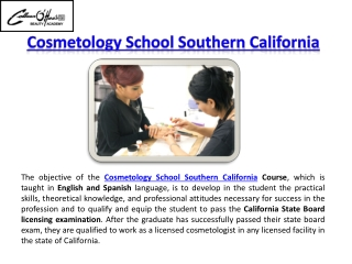 Cosmetology School Southern California