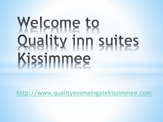 quality inn suites kissimmee