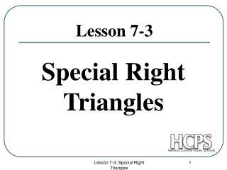 Lesson 7-3