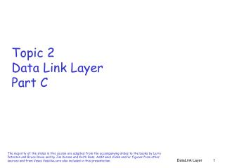 Topic 2 Data Link Layer Part C