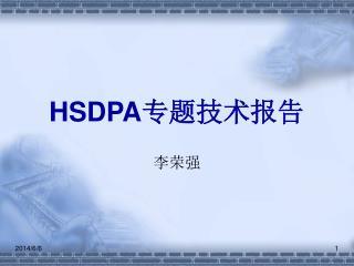 HSDPA 专题技术报告