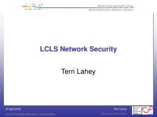LCLS Network Security