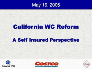California WC Reform