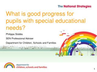What is good progress for pupils with special educational needs?