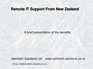 IT support from New Zealand
