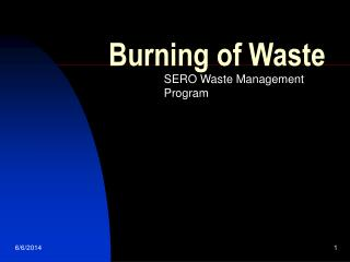 Burning of Waste