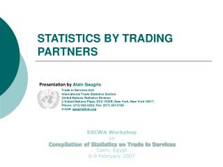 STATISTICS BY TRADING PARTNERS