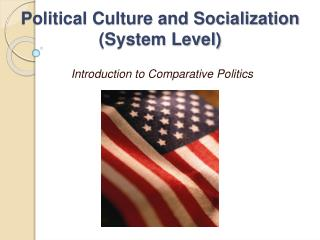 Political Culture and Socialization (System Level)