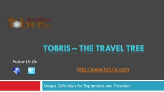 Travel souvenir gift ideas from Tobris