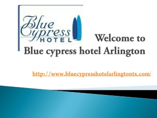 Blue cypress hotel Arlington