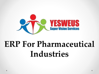 ERP For Pharmaceutical Industries