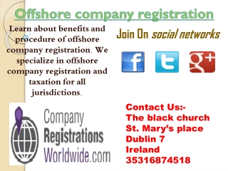 offshore company registration