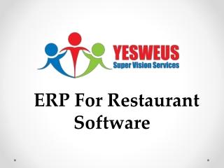 ERP For Restaurant Software