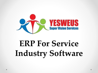 ERP FOR Service Industry Software