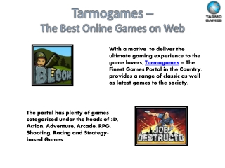 Play Free Online Games @ Tarmo