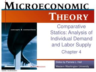 Comparative Statics: Analysis of Individual Demand and Labor Supply