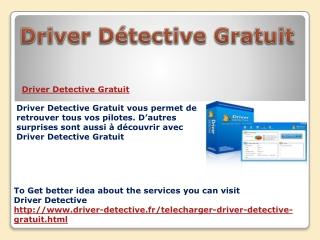 Driver Detective Gratuit