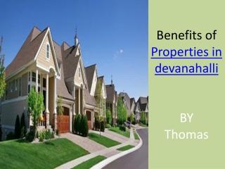 Properties in devanahalli
