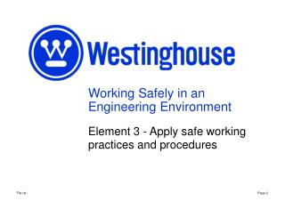 Working Safely in an Engineering Environment
