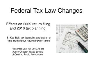 Federal Tax Law Changes