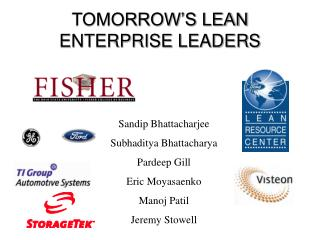 TOMORROW'S LEAN ENTERPRISE LEADERS