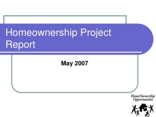 Homeownership Project Report