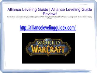 alliance leveling guide