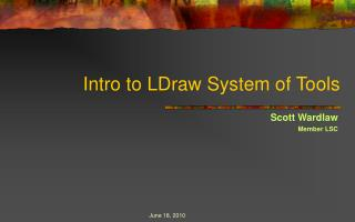 Intro to LDraw System of Tools