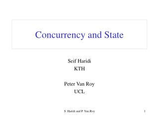 Concurrency and State