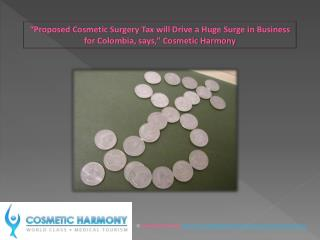 Proposed Cosmetic Surgery Tax vll Drive Business in Colombia