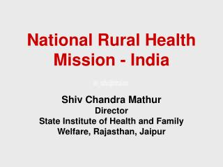 National Rural Health Mission - India