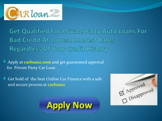 Private Party Car Loan Financing