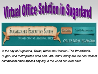 Virtual office spaces Solution in Sugarland