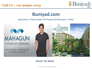 Mahagun Moderne Offers Apartments Call 99990 11115